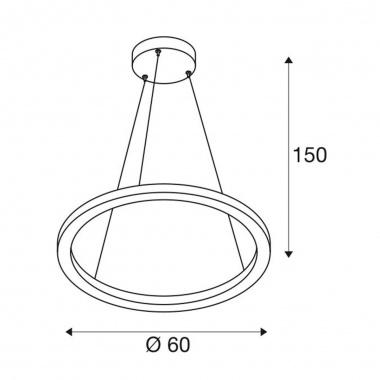 Lustr/závěsné svítidlo  LED LA 1002910-8