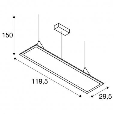 Lustr/závěsné svítidlo  LED LA 1003049-3