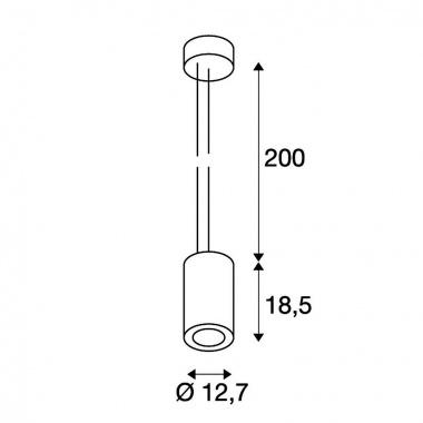 Lustr/závěsné svítidlo LED  SLV LA 133151-3