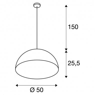 Lustr/závěsné svítidlo SLV LA 155930-5