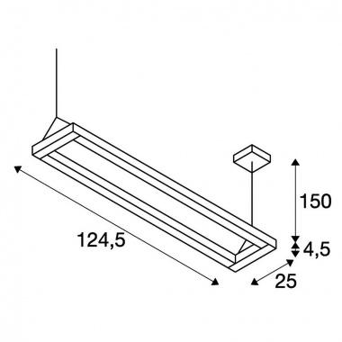 Lustr/závěsné svítidlo  LED SLV LA 1000393-4