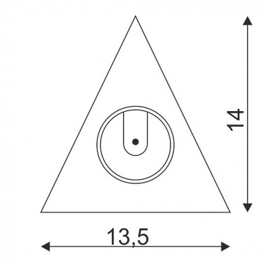 Pouzdro pro elektroniku triangl pro DL 126 LED, typ downlight, chrom SLV LA 112172-3