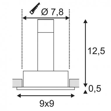 Vestavné bodové svítidlo 12V SLV LA 113491-3