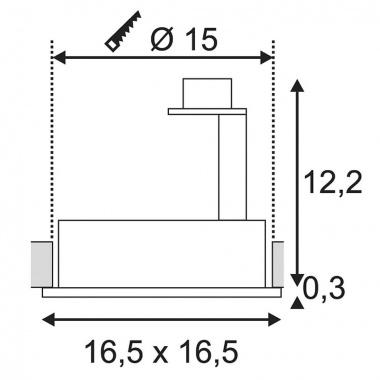 Vestavné bodové svítidlo 230V SLV LA 113830-3