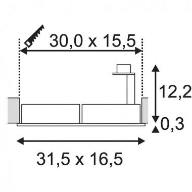Vestavné bodové svítidlo 230V SLV LA 113841-3