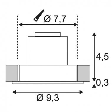 Vestavné bodové svítidlo 230V SLV LA 113871-3