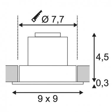 Vestavné bodové svítidlo 12V  LED SLV LA 113911-3