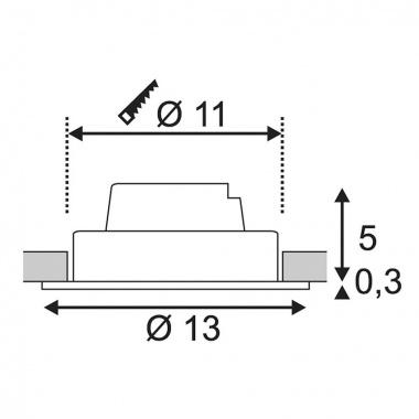 Vestavné bodové svítidlo 230V LED  SLV LA 114220-3
