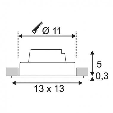 Vestavné bodové svítidlo 230V LED  SLV LA 114251-3
