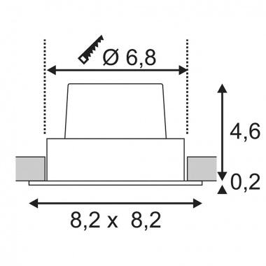 Vestavné bodové svítidlo 230V LED  SLV LA 114391-4
