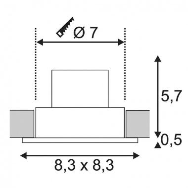 Venkovní svítidlo vestavné SLV LA 114451-3