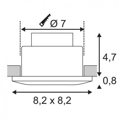 Vestavné bodové svítidlo 230V LED  SLV LA 114471-2
