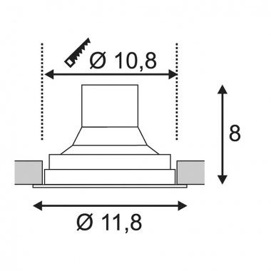 Vestavné bodové svítidlo 230V SLV LA 116310-4
