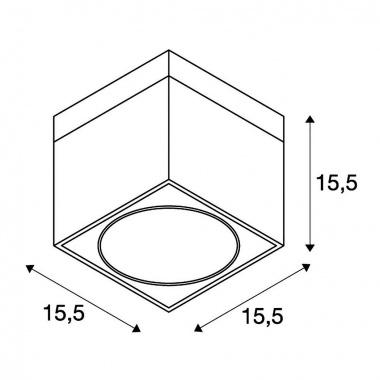 Stropní svítidlo SLV LA 117100-2