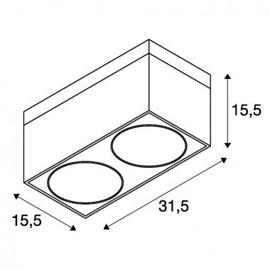 Stropní svítidlo SLV LA 117110-3