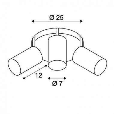 Přisazené bodové svítidlo SLV LA 147414-3