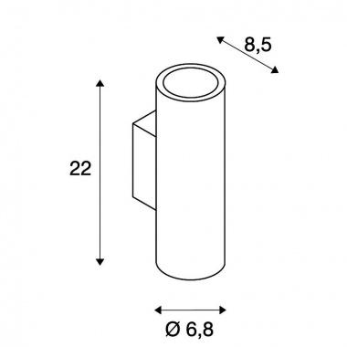 Nástěnné svítidlo SLV LA 151804-2