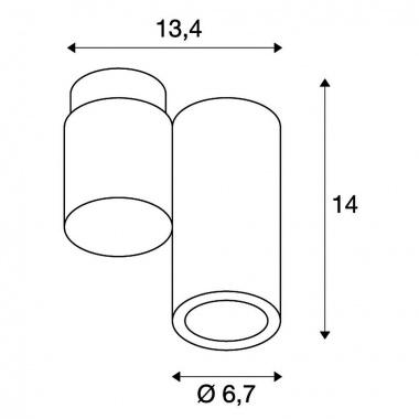 Přisazené bodové svítidlo SLV LA 151821-3