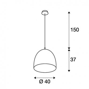Lustr/závěsné svítidlo SLV LA 155470-3