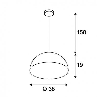 Lustr/závěsné svítidlo SLV LA 155510-4