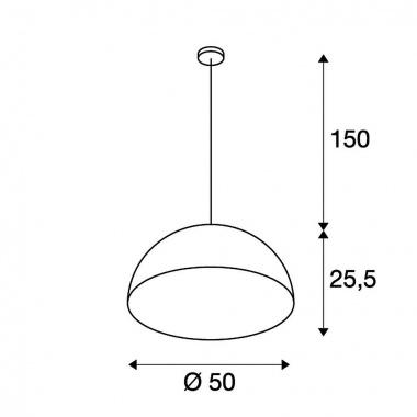 Lustr/závěsné svítidlo SLV LA 155520-4