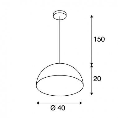 Lustr/závěsné svítidlo SLV LA 155911-4