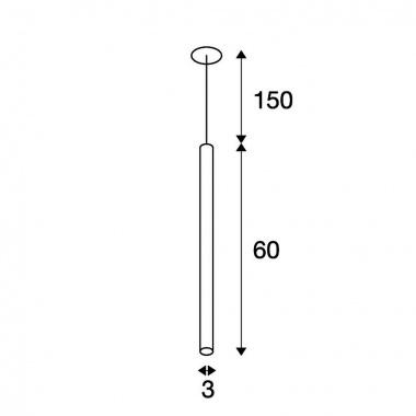Lustr/závěsné svítidlo LED  SLV LA 158401-3