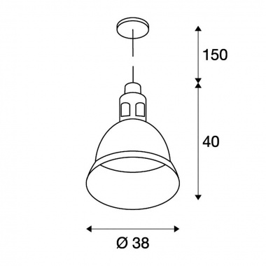 Lustr/závěsné svítidlo SLV LA 165359-4