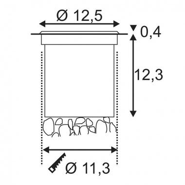 Pojezdové svítidlo LED SLV LA 227600-2