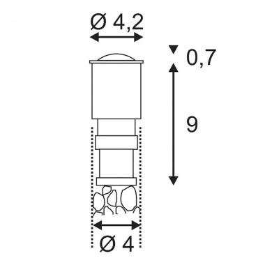 Pojezdové svítidlo SLV LA 228332-2