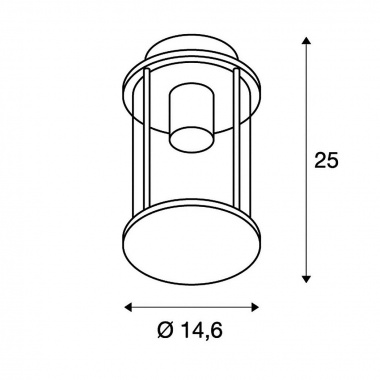 Venkovní svítidlo závěsné SLV LA 232065-4