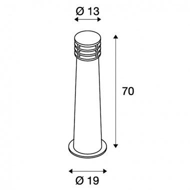 Venkovní sloupek LED  SLV LA 233417-3