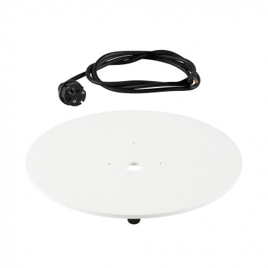 Montáž.deska pro svítidlo LIGHT PIPE bílá s černým kabelem - BIG WHITE SLV-1