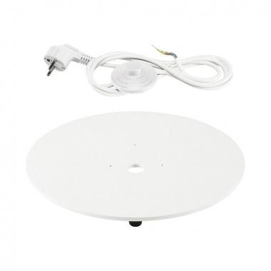 Montáž.deska pro svítidlo LIGHT PIPE bílá s průhledným kabelem - BIG WHITE SLV-1