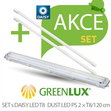 Průmyslové svítidlo GR GXWP272 SET DUST DAISY LED PS 2xT8 120
