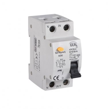 KRO6-2/B25/30   Kombinace jistič-proudový chránič (nahradí kód 03871)