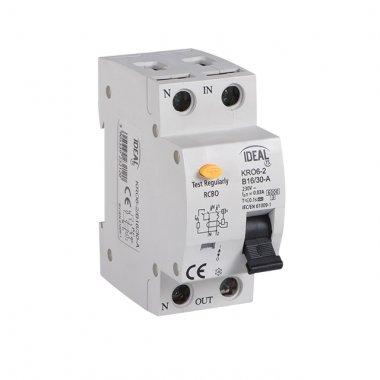 KRO6-2/B16/30A   Kombinace jistič-proudový chránič