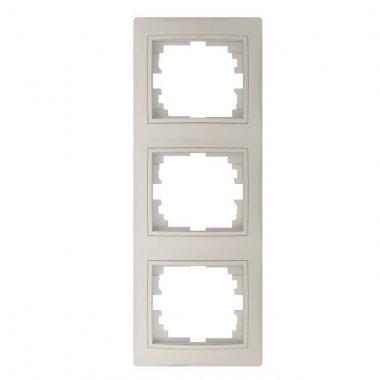 Trojnásobný vertikální rámeček, krémová - DOMO KA 24827