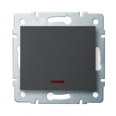 Jednopólový vypínač s LED - grafit - DOMO KA 24901