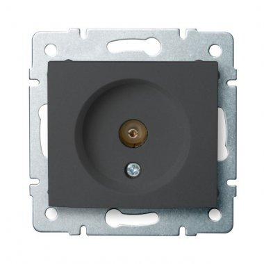 Anténní zásuvka typu F průběžná, grafit - DOMO KA 24919