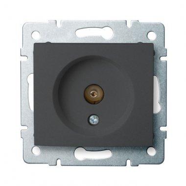 Anténní zásuvka typu F koncová, grafit - DOMO KA 24920