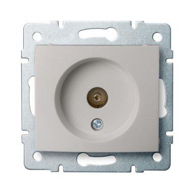 Anténní zásuvka typu F průběžná, perleťově bílá - DOMO KA 24978
