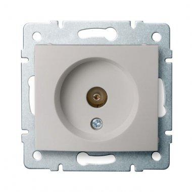 Anténní zásuvka typu F koncová, perleťově bílá - DOMO KA 24979