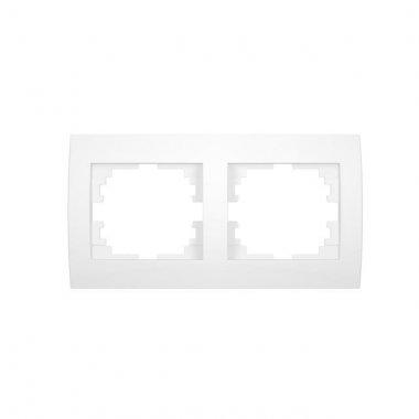 Dvojnásobný horizontální rámeček - bílá - LOGI KA 25118