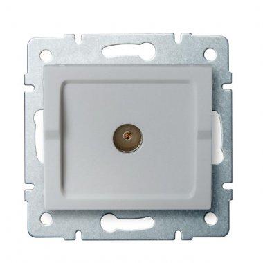 Anténní zásuvka typu F průběžná - stříbrná - LOGI KA 25215