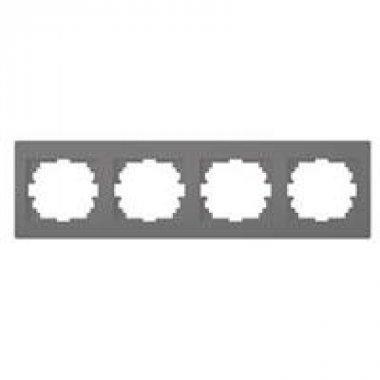 Čtyřnásobný horizontální rámeček - grafit - LOGI KA 25297