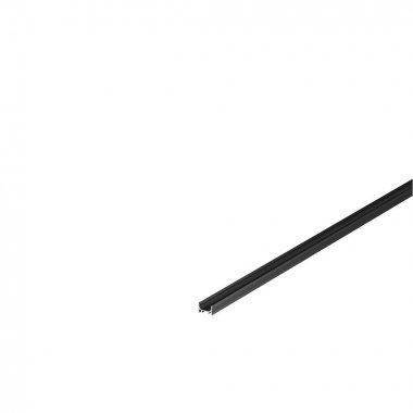GRAZIA 10 profil na stěnu LED plochý drážkovaný 2m černý - BIG WHITE