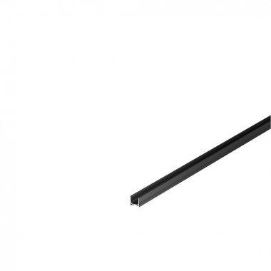 GRAZIA 10 profil na stěnu LED standard drážkovaný 2m černý - BIG WHITE SLV