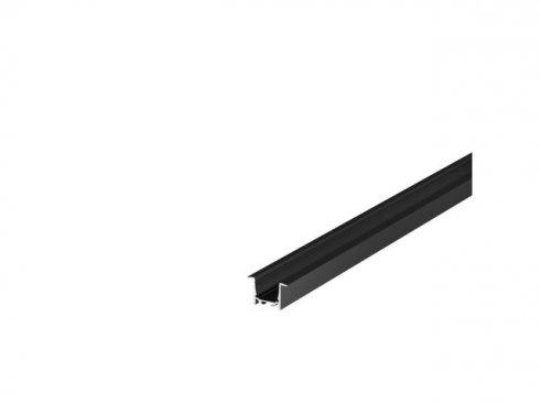 GRAZIA 20 profil k zabudování LED 1m černý - BIG WHITE