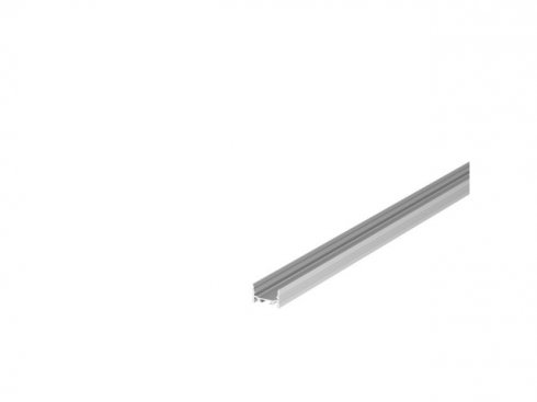 GRAZIA 20 profil na stěnu LED plochý drážkovaný 1m hliník - BIG WHITE